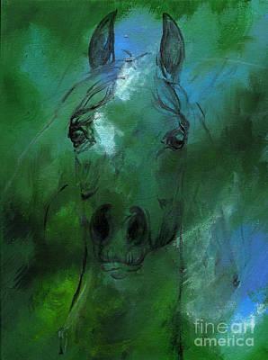 Green Art Print by Angel  Tarantella