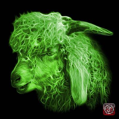 Digital Art - Green Angora Goat - 0073 F by James Ahn
