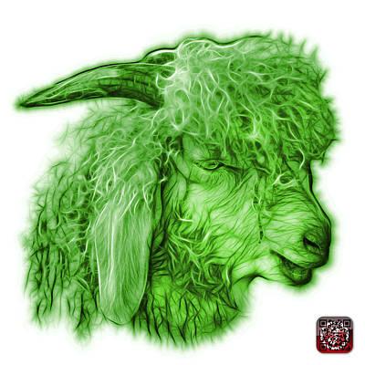 Digital Art - Green Angora Goat - 0073 Fs by James Ahn