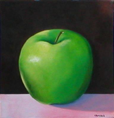 Milena Painting - Green Apple by Ana Tamara