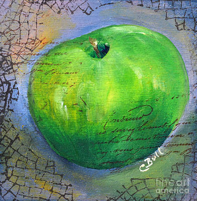Mixed Media - Green Apple by Claire Bull