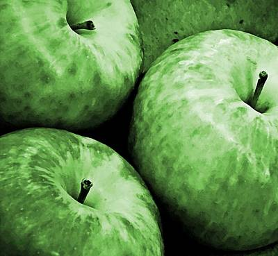 Rosaceae Photograph - Green Apples by Chris Berry