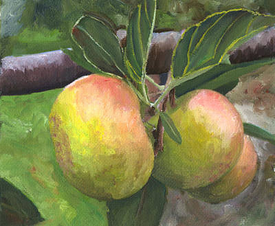 Painting - Green Apples by Mary Jo Zorad