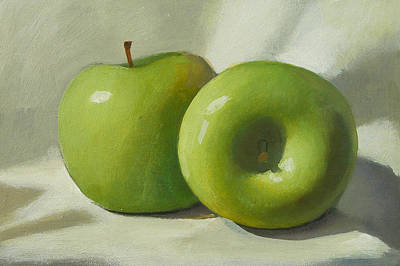 Painting - Green Apples by Peter Orrock