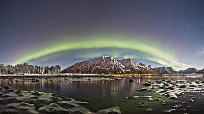 Aurora Borealis Photograph - Green Arch by Frank Olsen