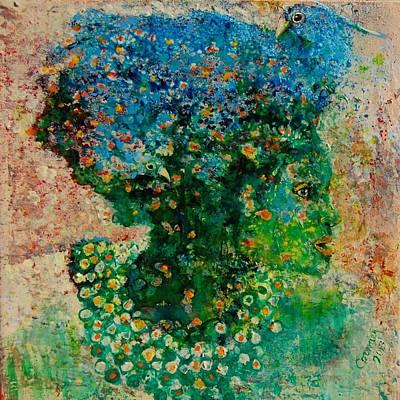 Green Artist Art Print by Jean Cormier