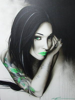 Leaf Ring Painting - Portrait - ' Green Ascension ' by Christian Chapman Art