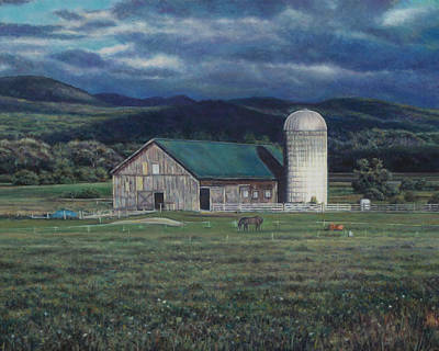 Painting - Green Barn North Of Burlington Vt by David P Zippi