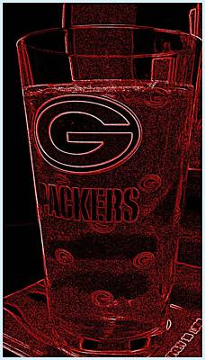 Photograph - Green Bay Packer Glass by Kay Novy