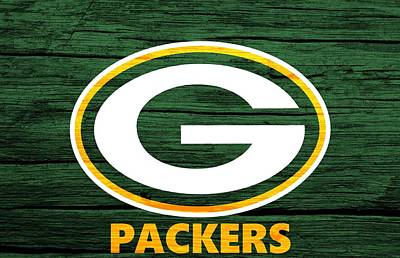 Mixed Media - Green Bay Packers Barn Door by Dan Sproul