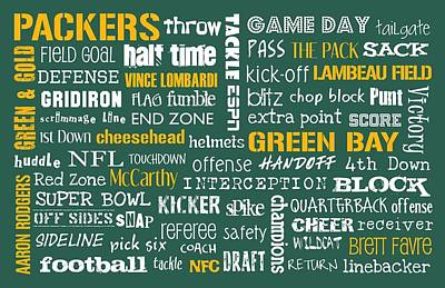 Green Bay Packers Art Print by Jaime Friedman
