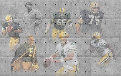 Green Bay Packers Legends Art Print