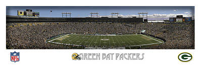 Green Bay Packers Panorama Art Print