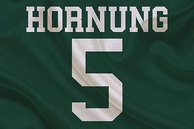 Green Bay Packers Paul Hornung Art Print