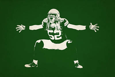 Green Bay Packers Shadow Player Art Print