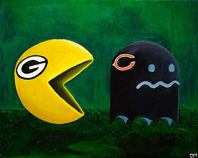 Chicago Bears Painting - Green Bay Packers Vs. Chicago Bears by Deanna Millard