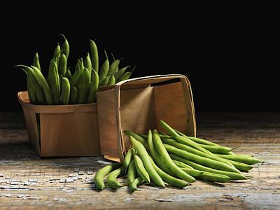 Green Beans In Baskets Quebec, Canada Art Print by Roderick Chen