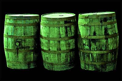Barrel Photograph - Green Beer by LeeAnn McLaneGoetz McLaneGoetzStudioLLCcom