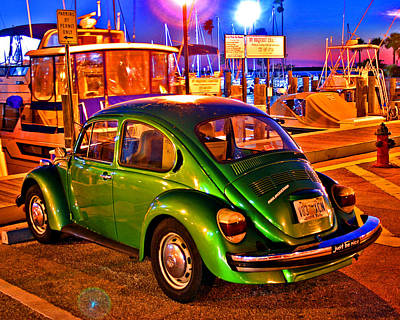 Art Print featuring the photograph Green Beetle by Christopher McKenzie