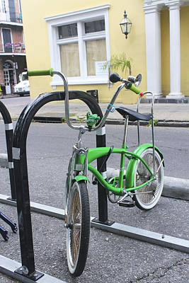 Photograph - Green Bike by Carlos Diaz
