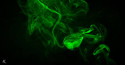 Photograph - Green Black Smoke by Kelly Smith