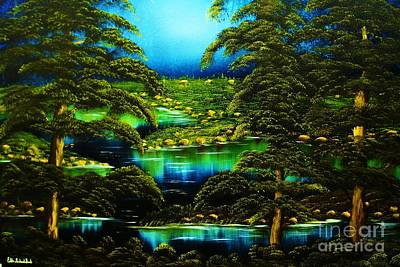 Painting - Green Blue Waters-original Sold-buy Giclee  Print Nr 29 Of Limited Edition Of 40 Prints  by Eddie Michael Beck