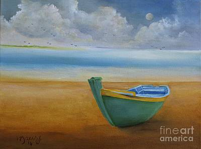 Painting - Green Boat by Alicia Maury