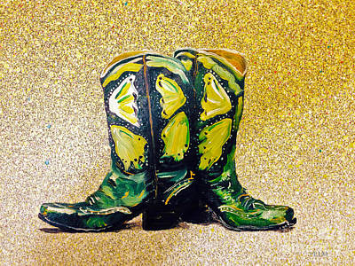 Painting - Green Boots by Mayhem Mediums