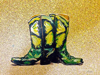 Painting - Green Boots by Mayhem Mediums