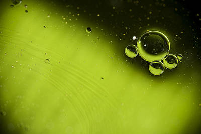 Bright Colours Photograph - Green Bubble by Samuel Whitton