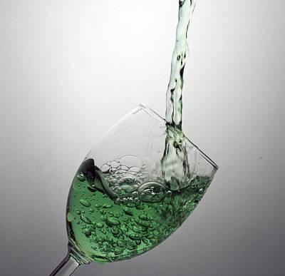 Green Bubbly Art Print by John Hoey