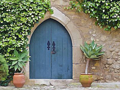 Photograph - Green Castle Door Of Obidos by David Letts