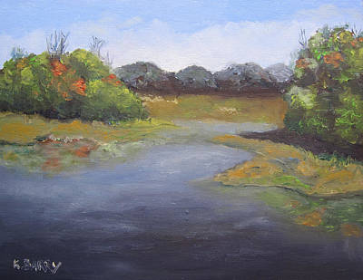 Painting - Green Cay Marsh by Kathryn Barry