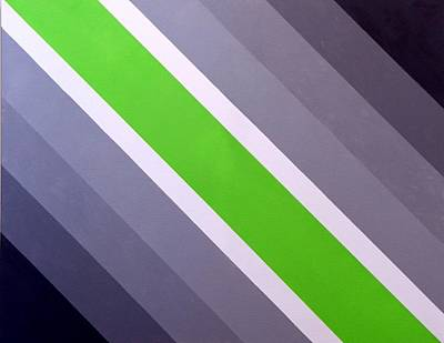 Painting - Green Chevron by Thomas Gronowski