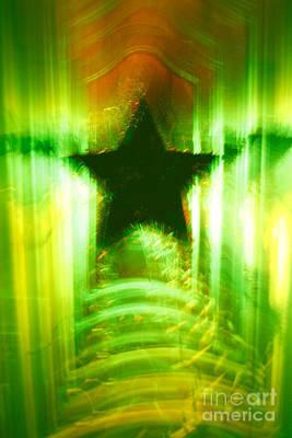 Green Christmas Star Print by Gaspar Avila