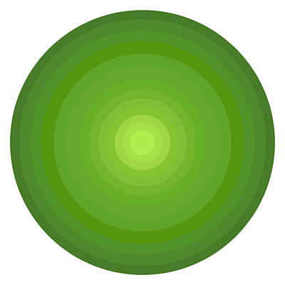 Disc Painting - Green Circles by Frank Tschakert
