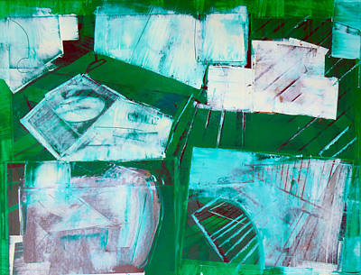 Cit Painting - Green City by Mark Fearn