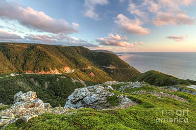 Tool Paintings - Green Cliffs Overlooking Cabot Trail by Colin D Young