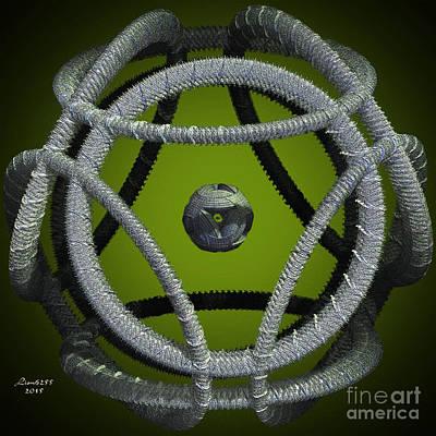 Digital Art - Green Cloth Fractal by Melissa Messick