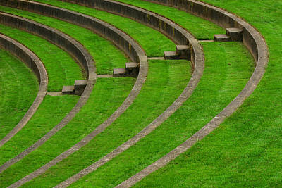 Photograph - Green Curves And Steps by Robert Woodward
