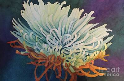 Painting - Green Dahlia by Kathy Staicer