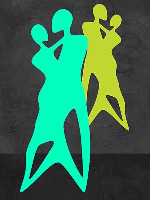 Green Dance Art Print by Naxart Studio