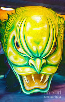Painting - Green Demon by Gregory Dyer