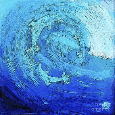 Green Dolphin Street Art Print
