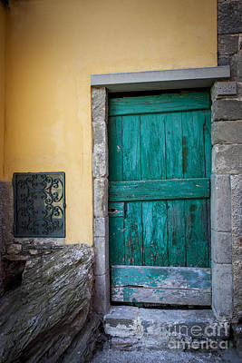Photograph - Green Door by Brian Jannsen