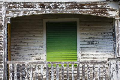 Photograph - Green Door Galveston Tx  by John McGraw
