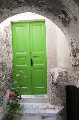 Photograph - Green Door In Emporio by Brenda Kean