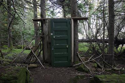Maine Landscape Photograph - Green Door In Forest by Susan  Degginger