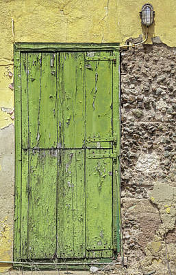 Photograph - Green Door Of Aruba by David Letts