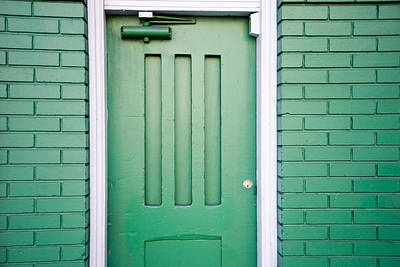 Photograph - Green Door San Francisco by David Smith